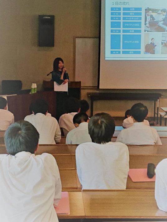 山口高校徳佐分校で授業を行いました