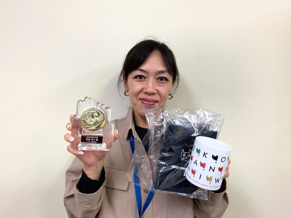 2019年9月度TG賞紹介、副賞はてしま旅館の「猫庭グッズ」